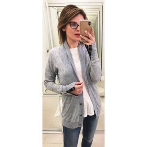 AG Button Down Cardigan in Blue